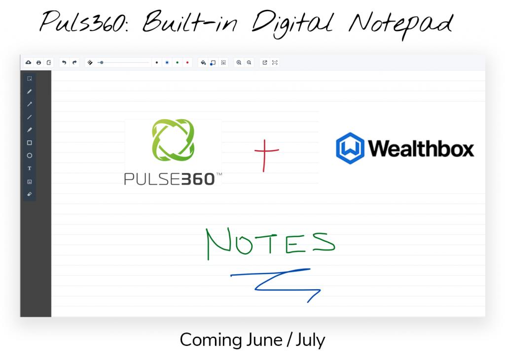 Pulse360 Built in Digital Notepad